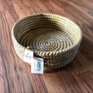 Other - NWT Handmade Round Woven Basket Wall Decor by Serv